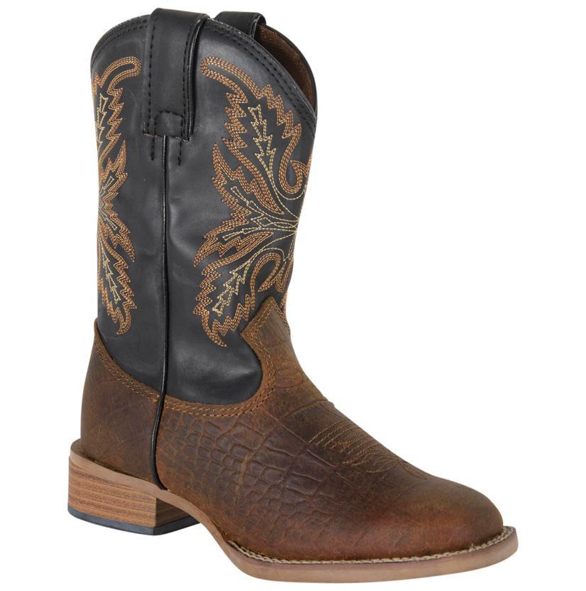 Justin Kids ' Bent Rail Coyote Brown Cowboy Boot