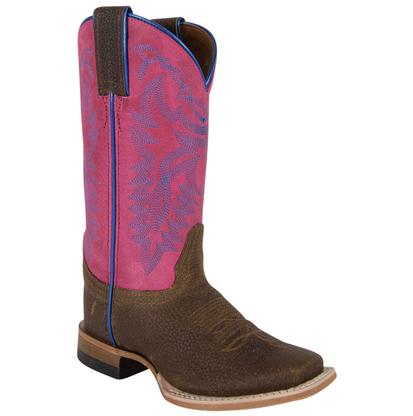 Justin Kids Chocolate Grizzly Bent Rail Boots