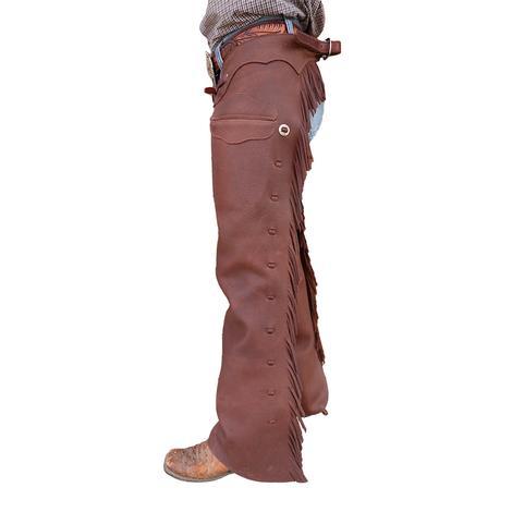 STT Shotgun Chap in Dark Oiltan Slickout with Pocket