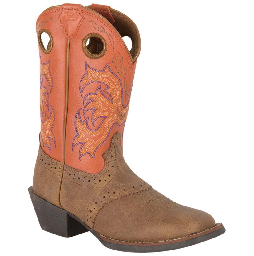 Justin Tan Dakota Perfed Saddle Men's Boots