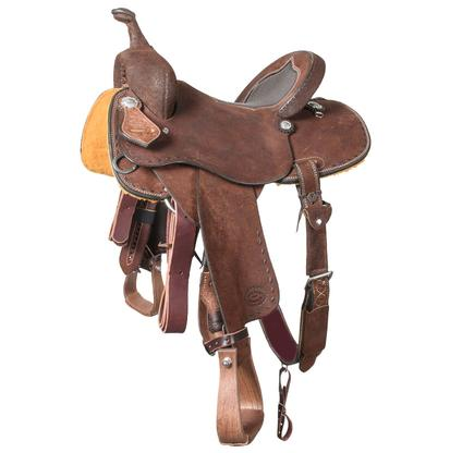 STT Barrel Saddle Chocolate Roughout
