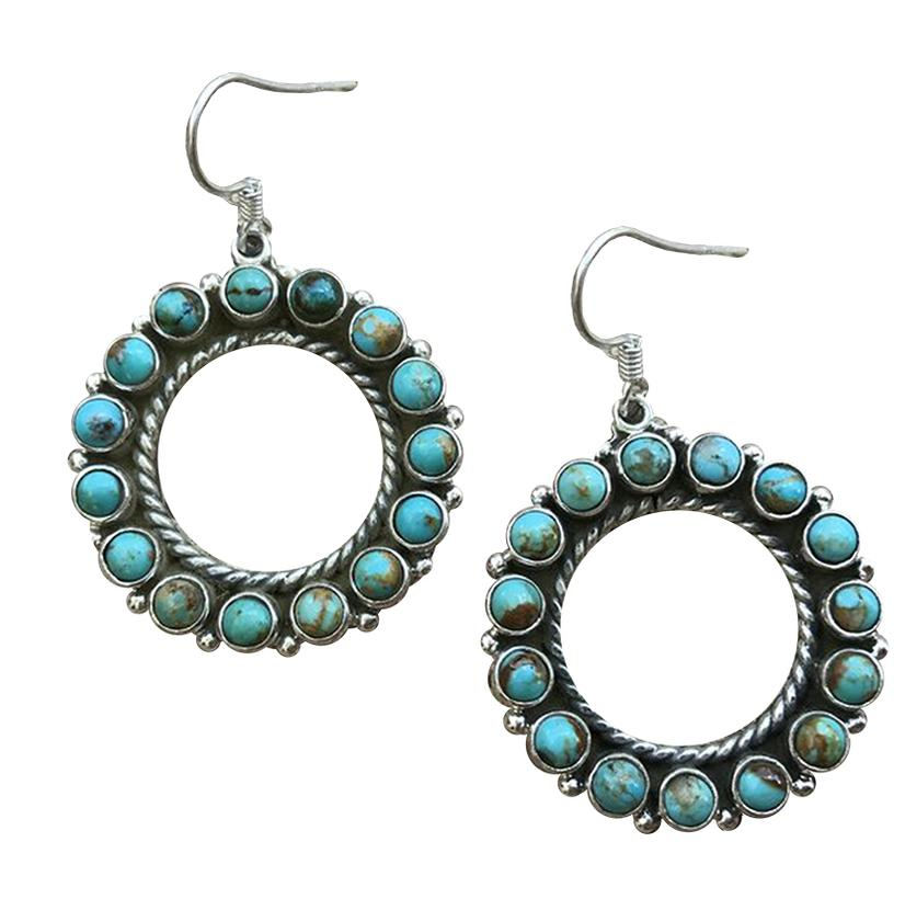 STT Turquoise Circle Earrings