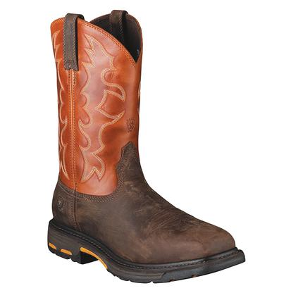 Ariat Mens Workhog Wide Square Steel Toe Boot