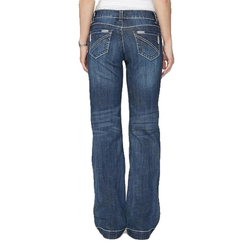 Stetson Womens Arrow Stitch Pocket Trouser Jean