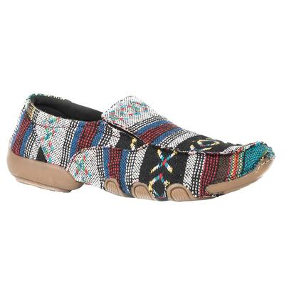 Roper Womens Multi Colored Print Slip On Casual Moccasin