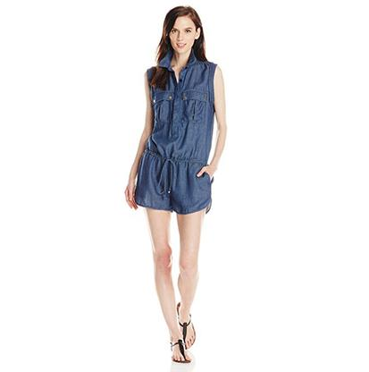 7 For All Mankind Womens Military Romper