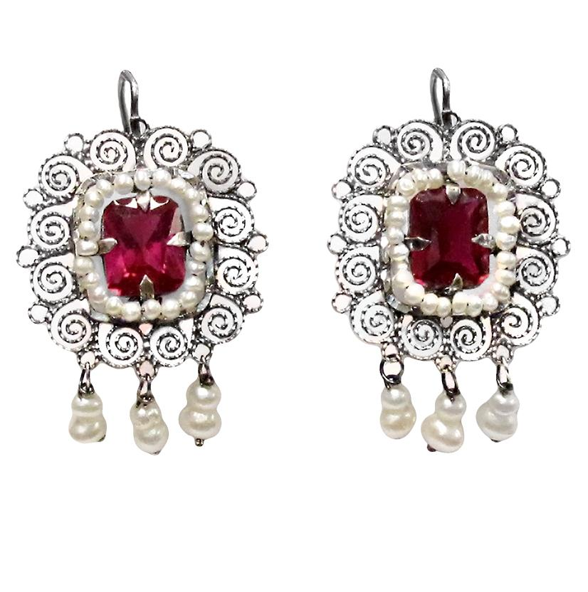 STT Corralitos Mexican Engraved Earrings