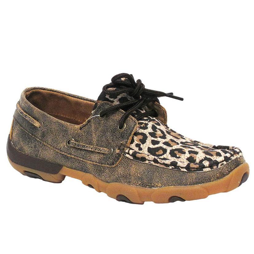 3852576a5ed9 Twisted X Womens Cheetah Driving Slip On Shoe