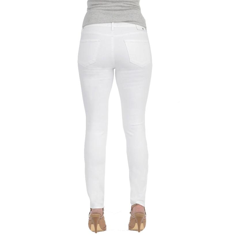 Articles Of Society Womens Sharon White Skinny Jeans