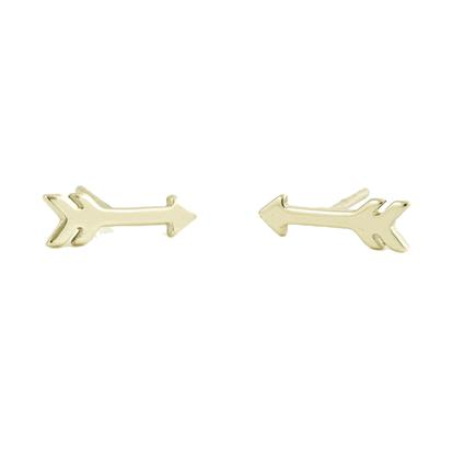 Kris Nations 18k Gold Arrow Earrings