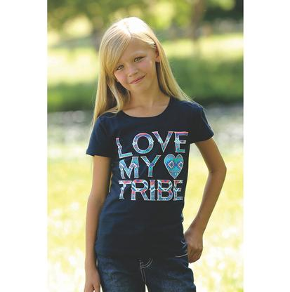 Cruel Girl Love My Tribe Girl's Printed Tee