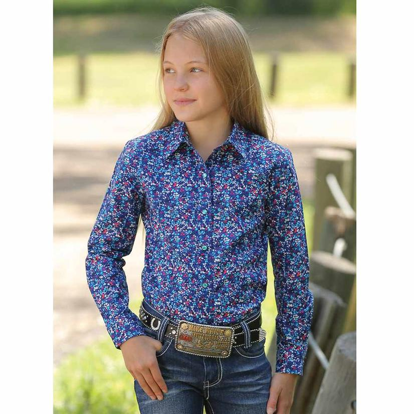 Cruel Girl Purple Confetti Snap Western Cowgirl Shirt