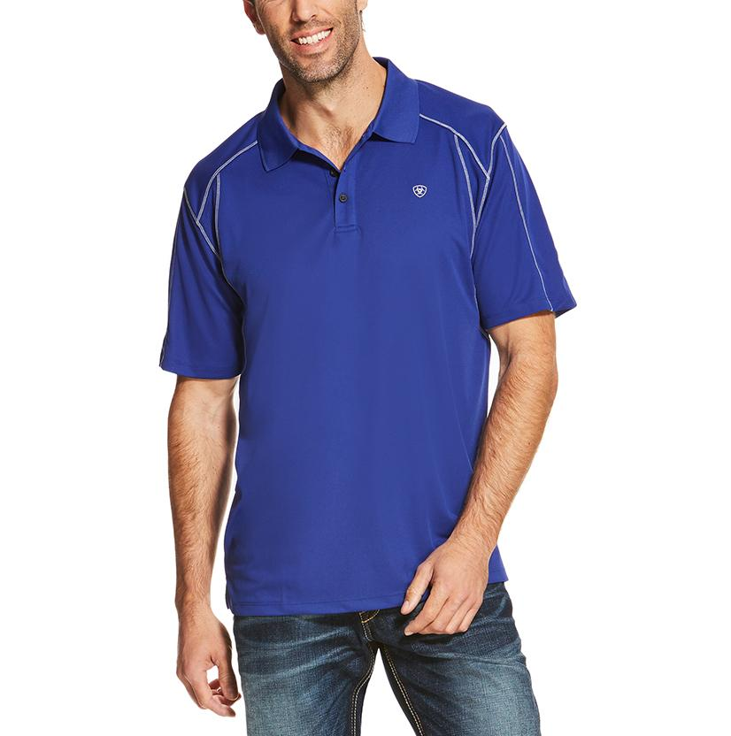 Ariat Mens Blue Frond Ac Polo