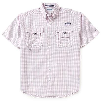 Columbia Mens Bahama Plaid Shirt CUPID_GINGHAM