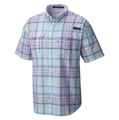Columbia Mens Bahama Plaid Shirt HYDRANGEA_PLAID