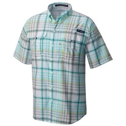 Columbia Mens Bahama Plaid Shirt KETTLE_MULTI_CHECK