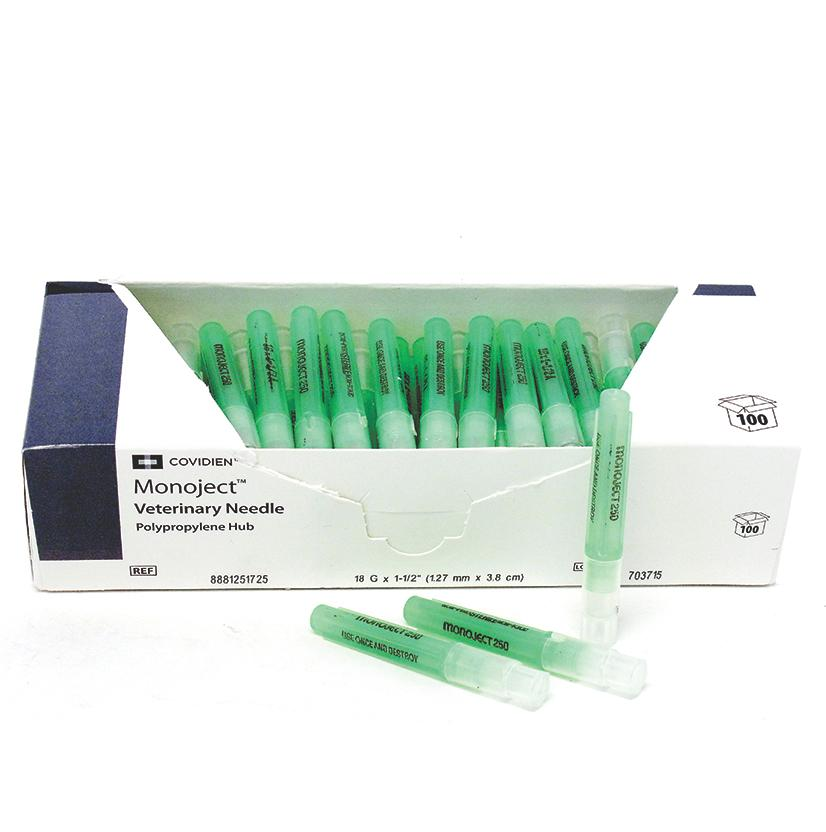 Monoject Needles 22g X 1 1/2 - 100/Box