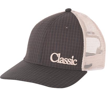 Classic Brown Plaid Mesh Back Cap