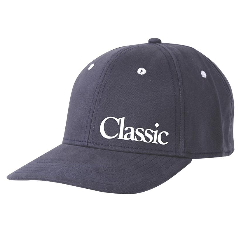 Classic Men's Navy Blue Fitted Cap