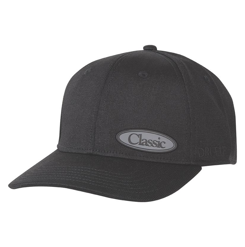Classic Men's Black Drifit Fitted Cap