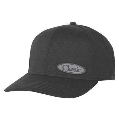 Classic Men's Black DriFit Fitted Cap