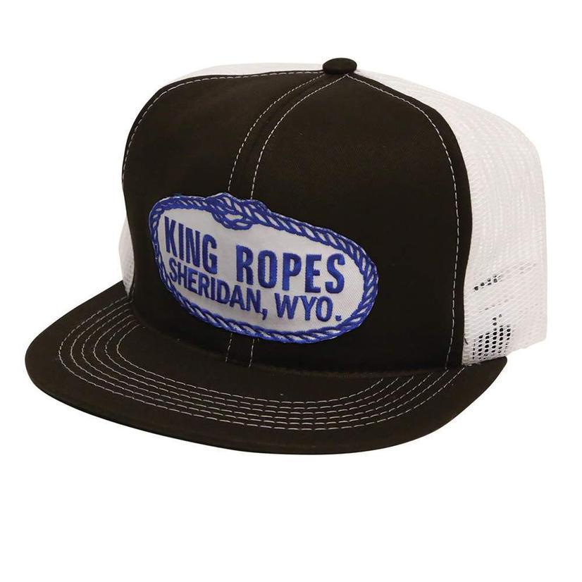 King Ropes Men's Trucker Hat BLACK/WHITE