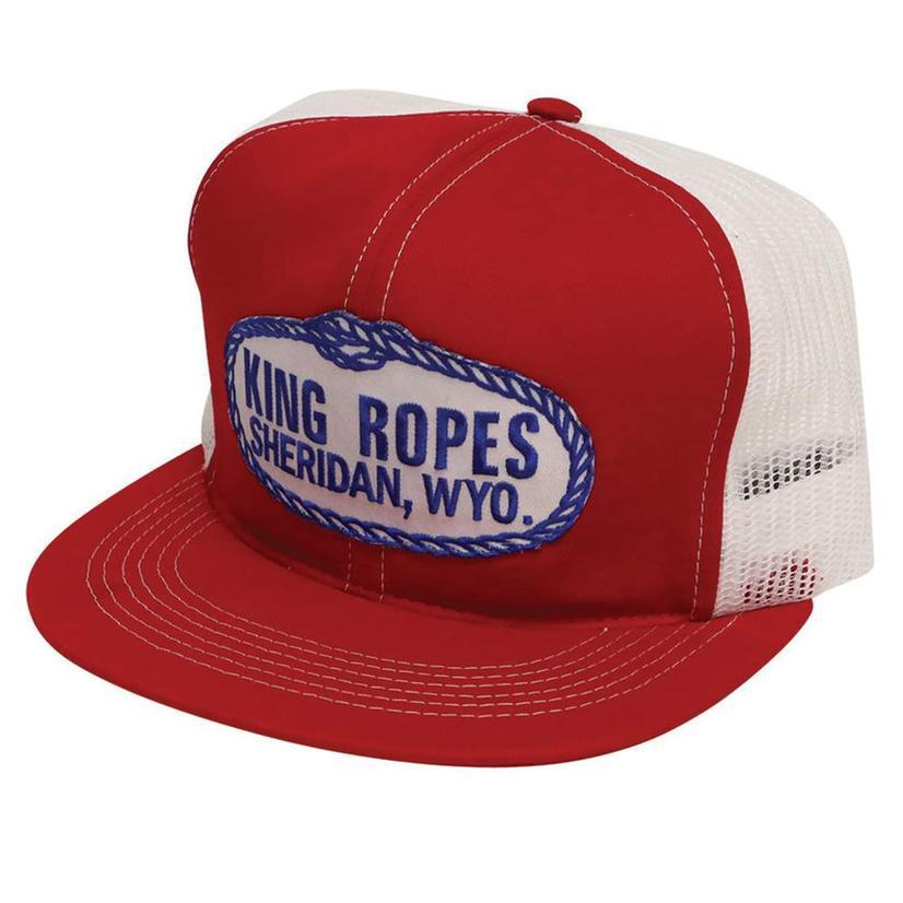 King Ropes Men's Trucker Hat RED