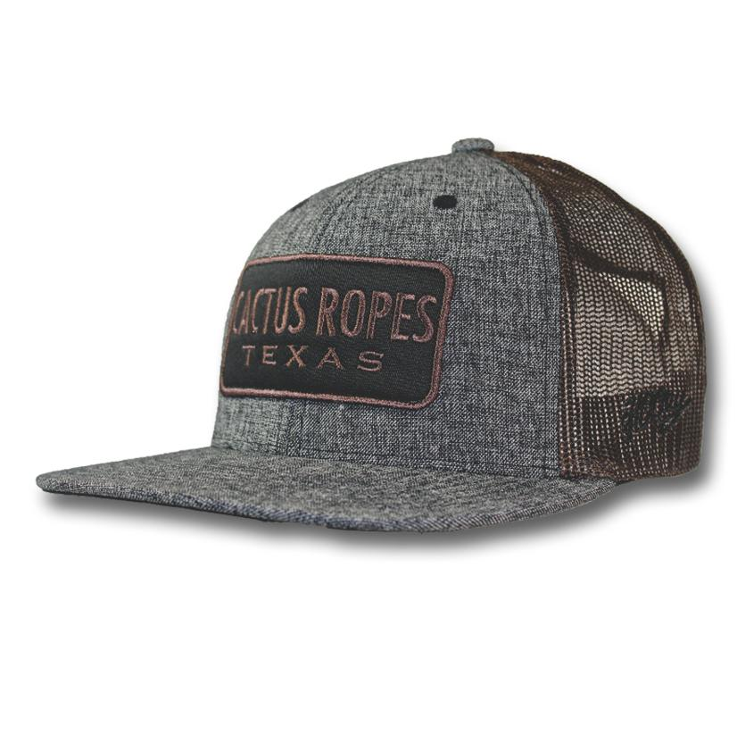 Hooey Cactus Ropes Gray & Brown Trucker Cap