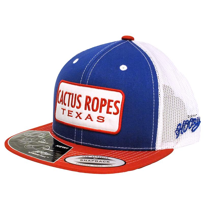 Hooey Red White Blue Cactus Ropes Texas Cap