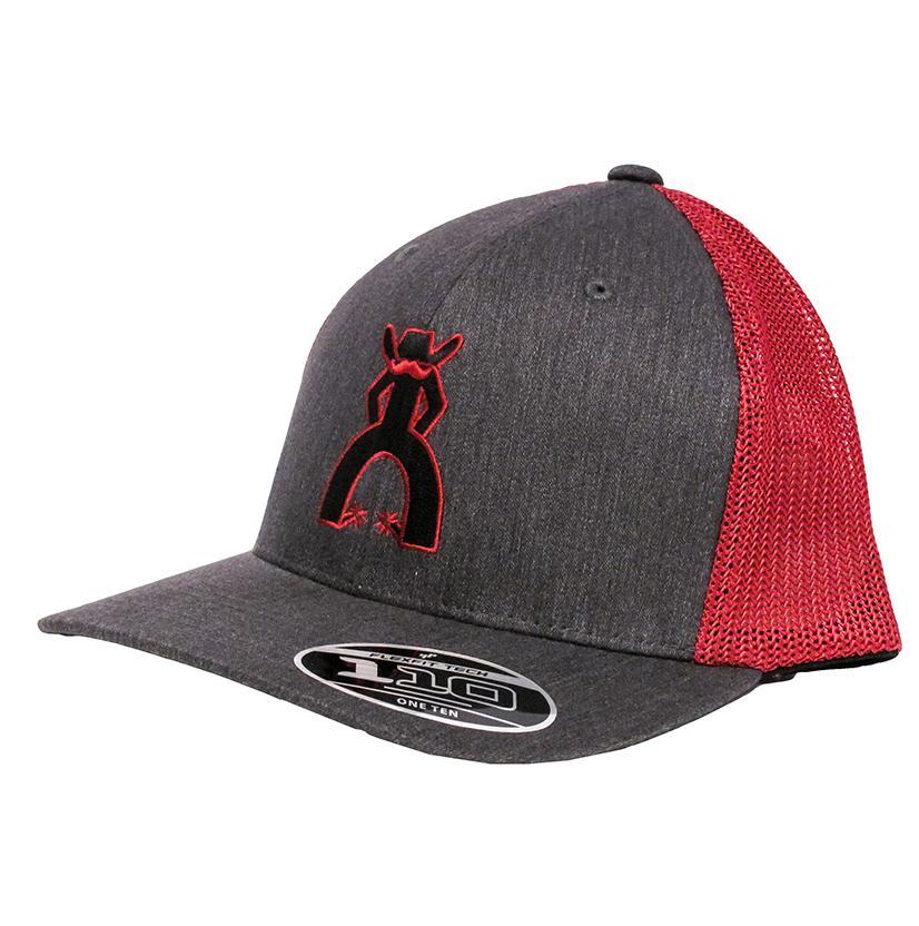 Hooey Men's Midland Grey & Red Mesh Cap