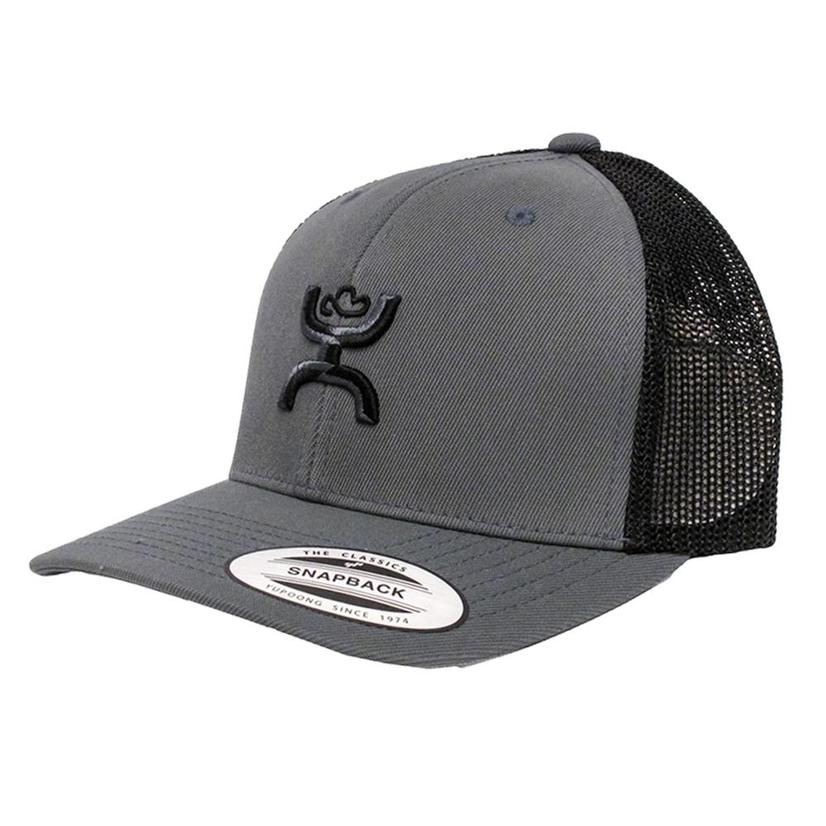 Hooey Grey/Black Adjustable Snapback Trucker Cap
