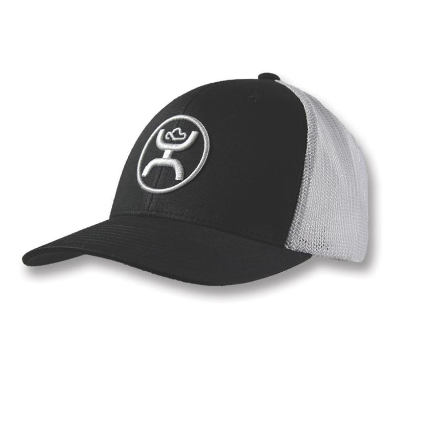 Hooey Men's Black And White Trucker Cap