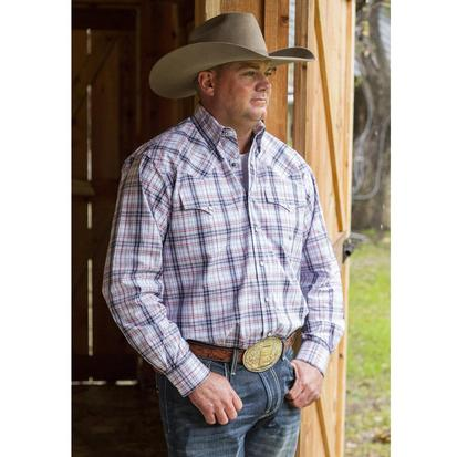 Miller Ranch Mens Plaid Snap Front Western Shirt