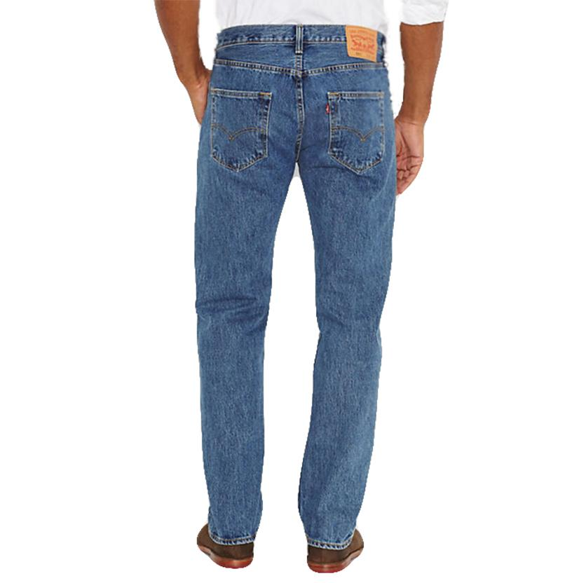 Levi's 501 Mens Straight Leg Button Fly Stonewash Jeans