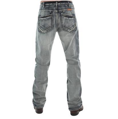 B Tuff Mens Throttle Bleach Wash Jeans