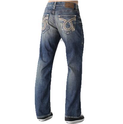 Big Star Mens Pioneer Regular Bootcut Dark Wash Jeans