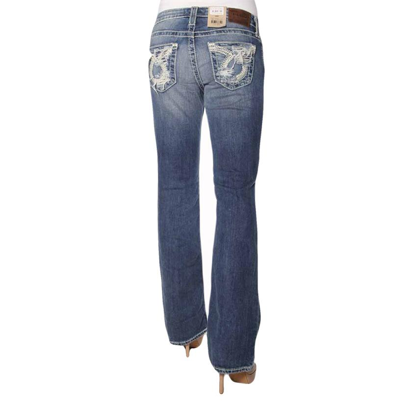 Big Star Womens Low Rise Medium Wash Jeans