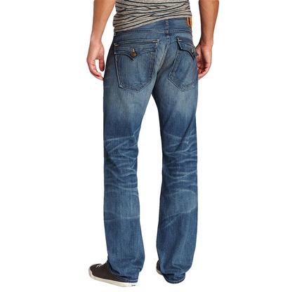 True Religion Mens Ricky Snake Eyes Straight Leg Jeans