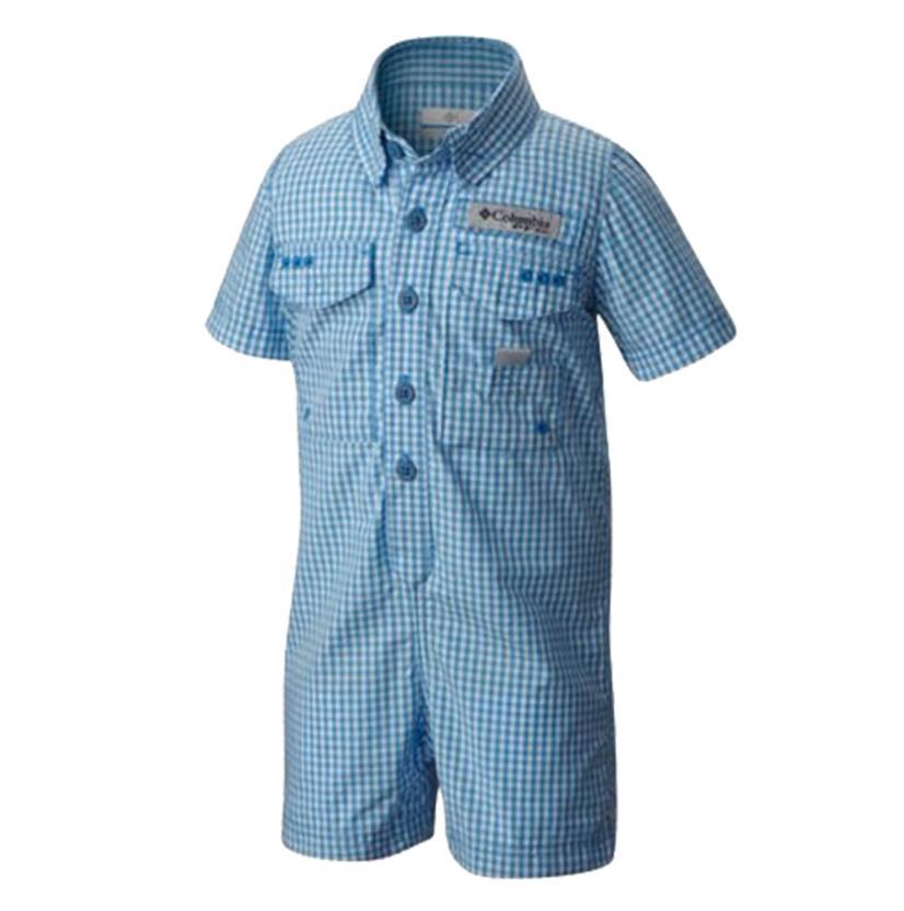 Columbia Blue Infant Romper