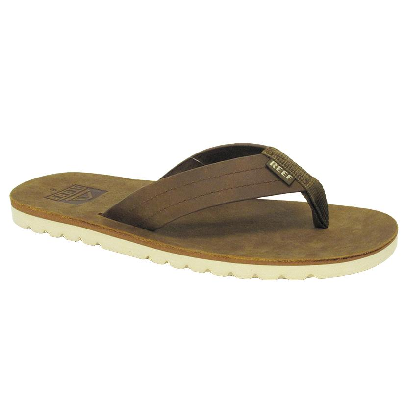 Reef Mens Voyage Leather Sandal