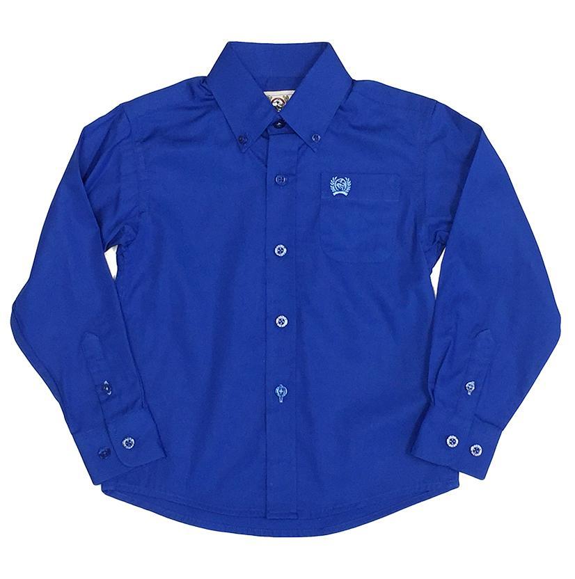 Infants Plain Long Sleeve Royal Blue Shirt