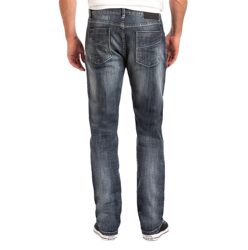 Slate Mens Slim Straight Fit Medium Wash Jeans
