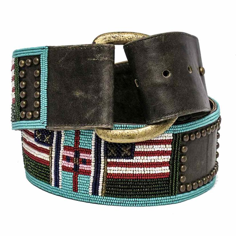 Double D Ranch Womens Old Glory Crow Belt