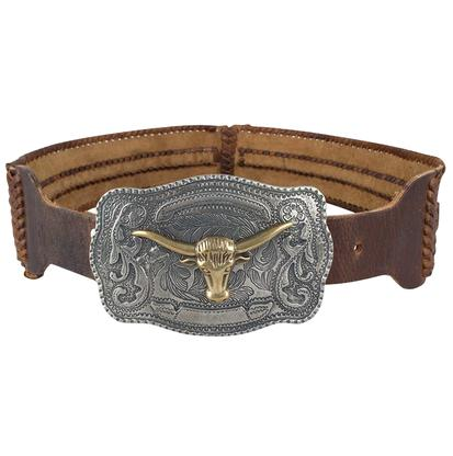 Union of Angels Brown Leather Belt