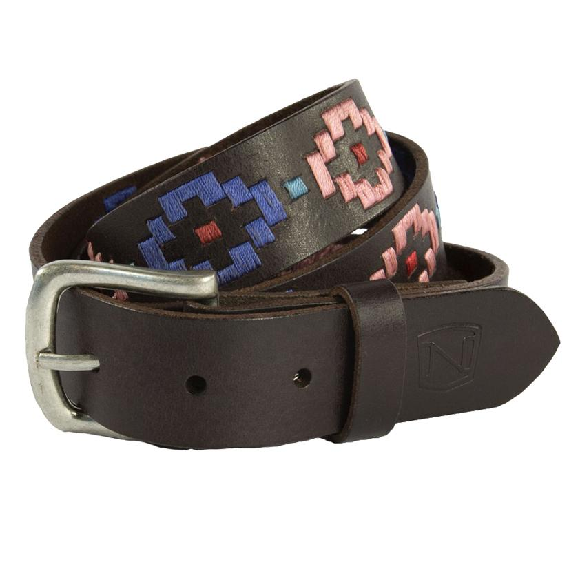 Noble Outfitters Womens Palermo Aztec Stitching Belt