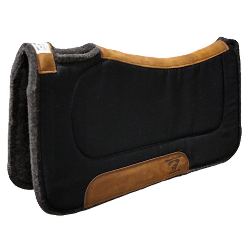 Diamond Wool Contoured Felt Ranch Pad 32 x 32 BLACK