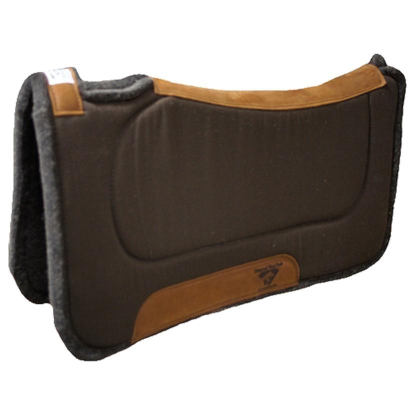 Diamond Wool Contoured Felt Ranch Pad 32 x 32 CHOCOLATE