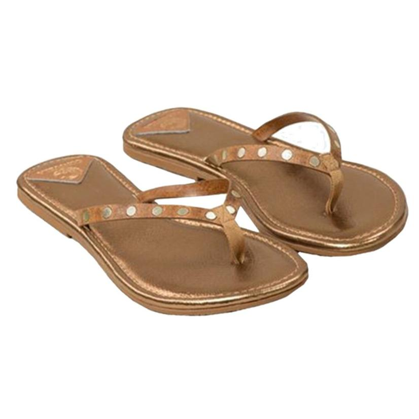 Consuela Womens Flip Flops COPPER