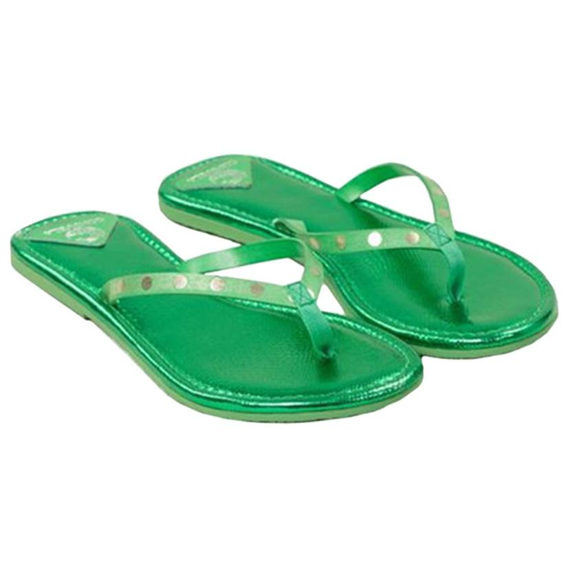 Consuela Womens Flip Flops EMERALD