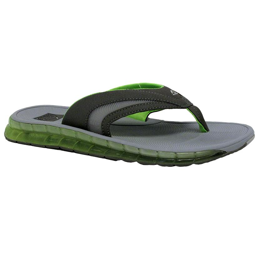 Reef Mens Boster Grey Green Sandal